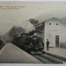 Postales: POSTAL ELGOIBAR - ESTACION DEL FERROCARRIL, EDICION CASIMIRO OSORO, SIN CIRCULAR.. Lote 105684323