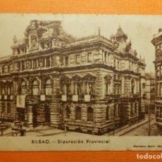 Postales: MINI POSTAL - BILBAO - DIPUTACIÓN PROVINCIAL - RECLAMOS GAVIN - 6 X 8,5 CM. - CONTROL PESO - AÑOS 40. Lote 105775943