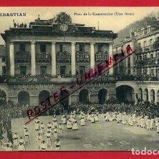 Postales: POSTAL SAN SEBASTIAN, GUIPUZCOA, PLAZA DE LA CONSTITUCION, UNA FIESTA, P87012. Lote 106976003