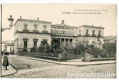 VITORIA PALACIO DE LA DIPUTACION ED. PIO LUIS LARRAÑAGA. SIN CIRCULAR (Postales - España - Pais Vasco Antigua (hasta 1939))