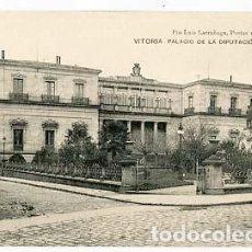 Postales: VITORIA PALACIO DE LA DIPUTACION ED. PIO LUIS LARRAÑAGA. SIN CIRCULAR. Lote 157891398