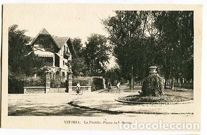 VITORIA LA FLORIDA PASEO DE LA SENDA. ED.M. ARRIBAS. SIN CIRCULAR (Postales - España - Pais Vasco Antigua (hasta 1939))