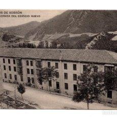 Postales: BAÑOS DE SOBRON. FACHADA DEL EDIFICIO NUEVO. ALAVA. AGUAS BICARBONATADAS SODICAS.. Lote 108753943