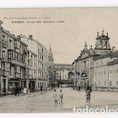 Postales: VITORIA CALLE DEL GENERAL LOMA ED. PIO LUIS LLARRAÑAGA, SIN CIRCULAR. Lote 108944647