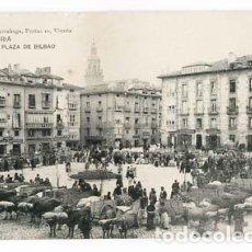 Postales: VITORIA PLAZA DE BILBAO, ED. PIO LUIS LARRAÑAGA. ( MERCADO DE GANADO ) SIN CIRCULAR. Lote 109058755