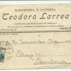 Postales: (PS-54338)TARJETA COMERCIAL TEODORO LARREA ( ORDUÑA). Lote 109190503