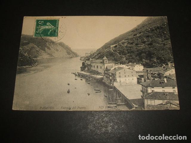 PASAJES DE SAN JUAN GUIPUZCOA ENTRADA DEL PUERTO (Postales - España - Pais Vasco Antigua (hasta 1939))
