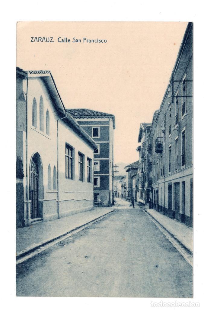 ZARAUZ.(GUIPÚZCOA).- CALLE NUESTRA SEÑORA DE ARÁNZAZU. FOTOTIPIA THOMAS. CASA LETEMENDIA (Postales - España - Pais Vasco Antigua (hasta 1939))