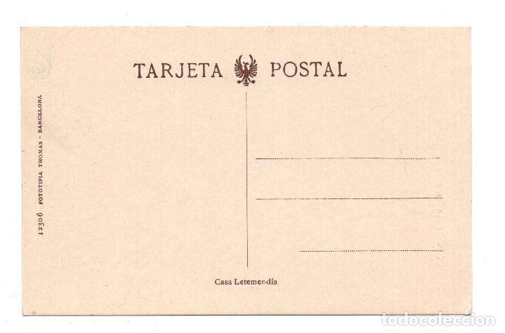 Postales: ZARAUZ.(GUIPÚZCOA).- CALLE NUESTRA SEÑORA DE ARÁNZAZU. FOTOTIPIA THOMAS. CASA LETEMENDIA - Foto 2 - 109796875
