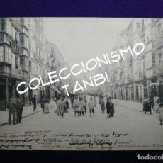 Postales: POSTAL VITORIA (ALAVA). CALLE DE LA ESTACION. AÑO 1904 - 1905. EJG- LARRAÑAGA.. Lote 109819539