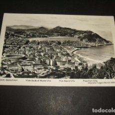Postales: SAN SEBASTIAN VISTA DESDE EL MONTE ULIA. Lote 110029587