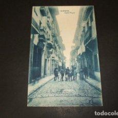 Postales: HERNANI GUIPUZCOA CALLE MAYOR BANDERAS DE ESPAÑA EN LOS BALCONES EDICION ZUBILLAGA. Lote 110132419