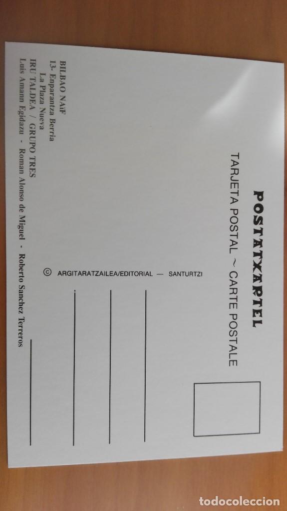 Postales: POSTAL NAIF BILBAO Nº 13 PLAZA NUEVA KIOSKO QUIOSCO MUSICA PERFECTA CONSERVACION VIZCAYA PAIS VASCO - Foto 2 - 110878263