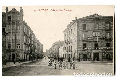 VITORIA CALLE DE SAN ANTONIO. . FOTOTIPIA THOMAS. SIN CIRCULAR (Postales - España - Pais Vasco Antigua (hasta 1939))