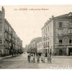 Postales: VITORIA CALLE DE SAN ANTONIO. . FOTOTIPIA THOMAS. SIN CIRCULAR. Lote 110918095