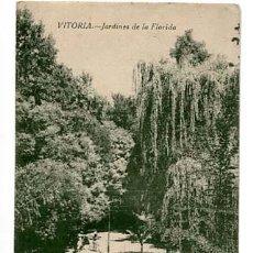 Postales: VITORIA JARDINES DE LA FLORIDA FOTOTIPIA CASTAÑEIRA, ALVAREZ Y LEVENFELD. SIN CIRCULAR. Lote 110964507