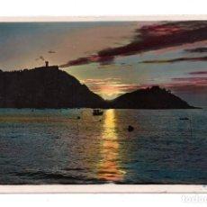 Postales: SAN SEBASTIAN CONTRA LUZ DESDE EL PASEO DE LA CONCHA. - FOTO GALARZA. Lote 110971607