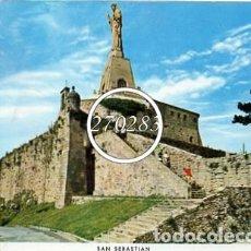 Postales: SAN SEBASTIAN Nº 10 MONUMENTO AL SAGRADO CORAZON EN EL MONTE URGULL - MANIPEL - SIN CIRCULAR - 1963. Lote 111606159
