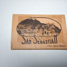 Postales: SAN SEBASTIAN ANTERIOR A 1939. ALBUM ACORDEON POSTALES ANTIGUAS. Lote 111559755