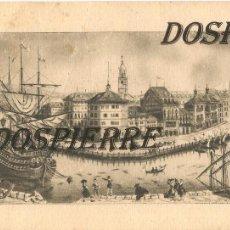 Postales: POSTAL, GRABADO DE LA RIBERA-BILBAO, 12X15,5, REPRODUCCIÓN . Lote 112162743