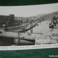 Postales: BILBAO - PUENTE GRAL. MOLA Y RIA. FOTO L. ROISIN NUM 535 - NO ESCRITA, NO CIRCULADA. Lote 112364663