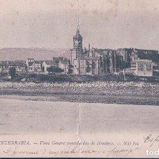 Postales: POSTAL FUENTERRABIA 12 - VISTA GENERAL TOMADA DESDE HENDAYA - ND - DELBOY - CIRCULADA. Lote 112400787