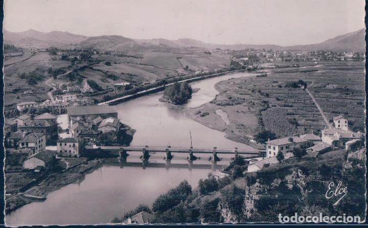 POSTAL BEHOBIA 1546 - BASSES - PYRENEES - LA BIDASSOA - LE PONT INTERNATIONAL - ELCE - CIRCULADA (Postales - España - Pais Vasco Antigua (hasta 1939))