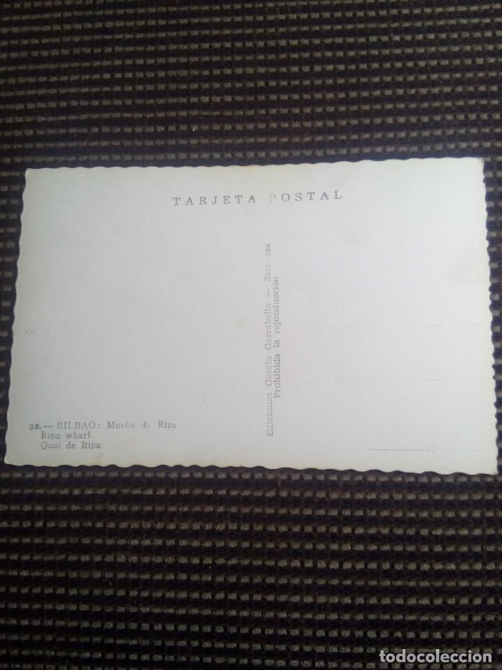 Postales: Bilbao tarjeta postal n°92 muelle de ripa de garcia garrabella nunca escrita - Foto 4 - 114009419