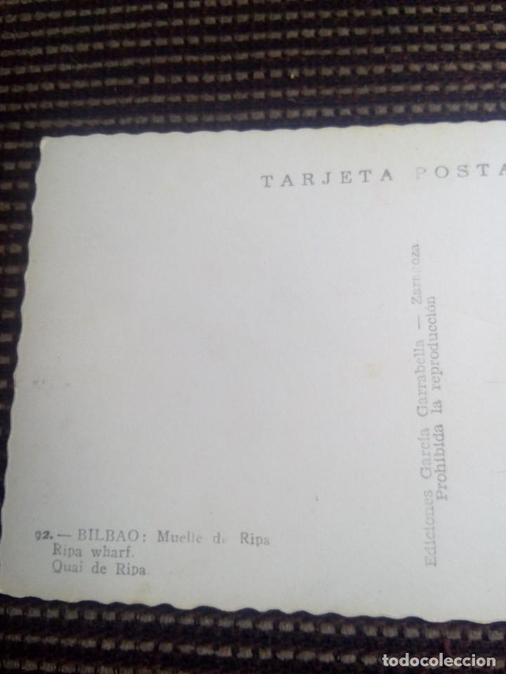 Postales: Bilbao tarjeta postal n°92 muelle de ripa de garcia garrabella nunca escrita - Foto 5 - 114009419