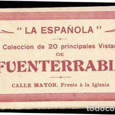 Postales: GUIPUZCOA FUENTERRABIA BLOC COMPLETO CON 20 POSTALES. ED. LA ESPAÑOLA. Lote 114288083