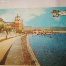 Postales: ANTIGUA FOTO POSTAL RECUERDOS FUENTERRABIA GUIPUZCUA,AÑOS 70-80 (ESCRITA). Lote 114356666