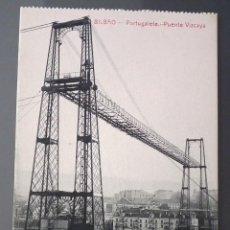Postales: POSTAL DE BILBAO: PORTUGALETE - PUENTE VIZCAYA. ED.G.G.M.. Lote 114660795