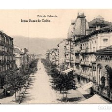 Postales: IRUN (GUIPUZCOA) - PASEO DE COLÓN - EDICION VALVERDE - FOTOTIPIA HAUSER Y MENET. Lote 114941983