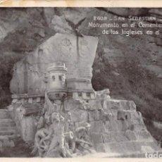 Postales: SAN SEBASTIÁN (GUIPUZCOA).- MONUMENTO EN EL CEMENTERIO DE LOS INGLESES EN EL MONTE URGULL. Lote 114972927