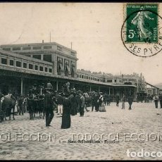 Postales: POSTAL SAN-SEBASTIAN ESTACION SAN SEBASTIAN . L BOSQ CA AÑO 1910. Lote 115902499