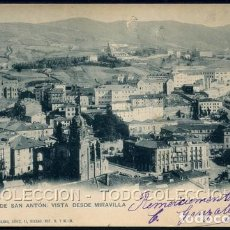 Postales: POSTAL BILBAO IGLESIA DE SAN ANTON VISTA DESDE MIRAVILLA 531 LANDABURU HERMANAS HAUSER Y MENET 1900. Lote 115911575
