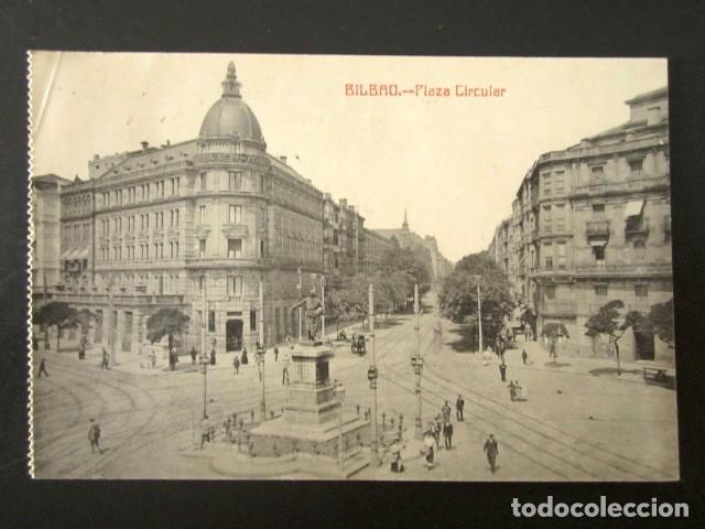 POSTAL BILBAO. PLAZA CIRCULAR. AÑO 1912 CIRCULADA (Postales - España - Pais Vasco Antigua (hasta 1939))
