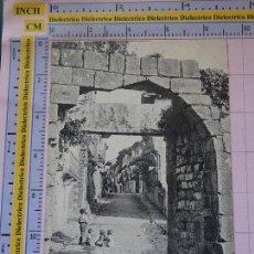 Postales: POSTAL DE GUIPÚZCOA. SIGLO XIX - 1905. FUENTERRABIA. PUERTA ANTIGUA. NIÑOS. 1526 HAUSER MENET. 1400. Lote 115977907