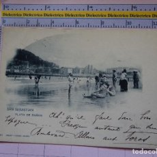 Postales: POSTAL DE GUIPÚZCOA. SIGLO XIX - 1905. SAN SEBASTIAN, PLAYA DE BAÑOS. 357 HAUSER MENET. 1401. Lote 115978115