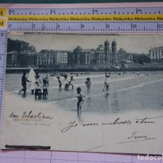 Postales: POSTAL DE GUIPÚZCOA. SIGLO XIX - 1905. SAN SEBASTIAN, PLAYA DE BAÑOS. 757 HAUSER MENET. 1402. Lote 115978299