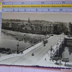 Postales: POSTAL DE GUIPÚZCOA. AÑOS 30 50. SAN SEBASTIAN. PUENTE DE SANTA CATALINA. 121 ARRIBAS. 1415. Lote 115981867