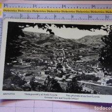 Postales: POSTAL DE GUIPÚZCOA. AÑOS 30 50. AZPEITIA, VISTA GENERAL Y AL FONDO LOYOLA. 1424. Lote 115984051