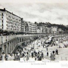 Postales: FOTO-POSTAL SAN SEBASTIAN: PLAYA DE LA CONCHA - ED. MANIPEL - SIN CIRCULAR. Lote 116037483