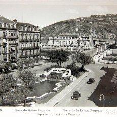 Postales: FOTO-POSTAL SAN SEBASTIAN: PLAZA DE REINA REGENTE - ED. MANIPEL - SIN CIRCULAR. Lote 116037703