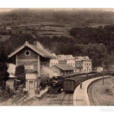 Postales: TRUBIA - ESTACION DE FERROCARRIL DEL VASCO - FOTOTIPIA HAUSER Y MENET. Lote 116600983