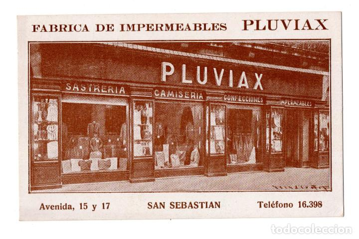 SAN SEBASTIÁN (GUIPUZCOA).- FABRICA DE IMPERMEABLES PLUVIAX (Postales - España - Pais Vasco Antigua (hasta 1939))