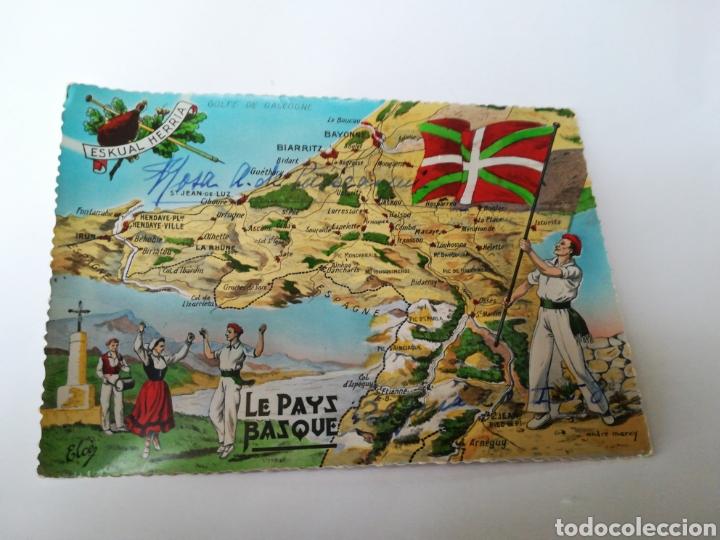 Mapa Pais Vasco Frances.Mapa Ilustrado Pais Vasco Frances