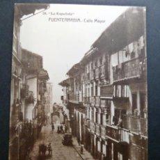 Postales: FUENTERRABIA (GUIPUZCOA) CALLE MAYOR, ANTIGUA POSTAL SIN CIRCULAR. Lote 116782199