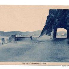 Postales: ZARAUZ (GUIPUZCOA).- CARRETERA DE GUETARIA. Lote 117397323