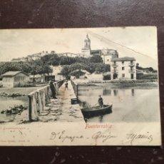 Postales: FUENTERRABIA. ÉL DESEMBARCADERO. Lote 117944511